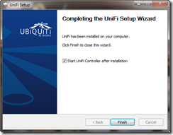 Completing the UniFi Setup Wizard