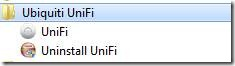 UniFi Program Menu
