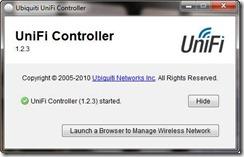 UniFi Controller Startup Screen