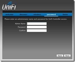 UniFi Controller Software Admin Name and Password