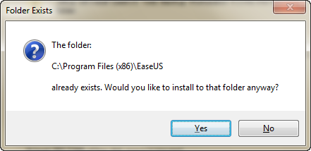 Folder Exists