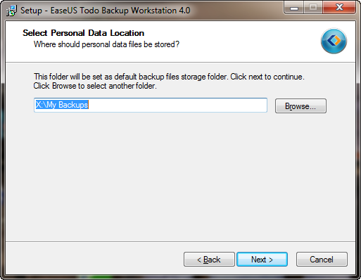 Select a Personal Data Location