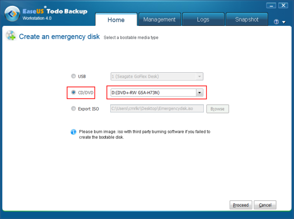 Create a Bootable Recovery Disk