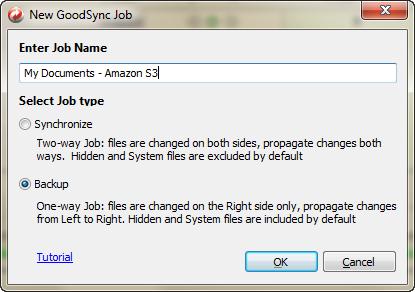 Create a New GoodSync Backup Job