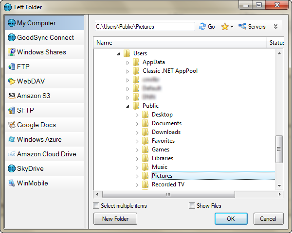 Select the My Computer option in the left navigation pane