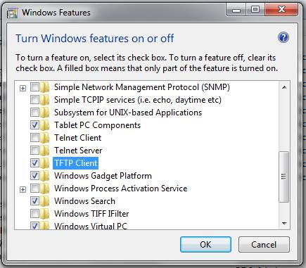 Activate Windows Features