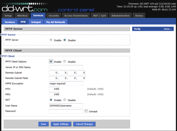 Virtual Private Network - Client