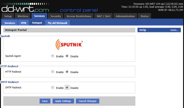 Services – Hotspot Portal