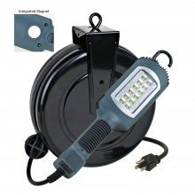 LED Retractable Cord Reel Shop Garage Work Light