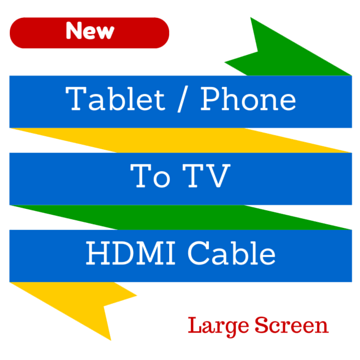 tablet to tv hdmi cable - large screen